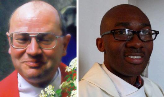 P. Albert et Abbé Armand méditent l'évangile de dimanche prochain